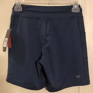 "ASICS Womens 7"" Knit Shorts Dark Blue X-Small"